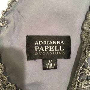 Adrianna Papell Dresses - Adrianna Papell Silver Dress